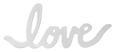 Wanddeko Lovelyn in Silber - Kupferfarben, Metall (15,2/6,3/1,4cm)