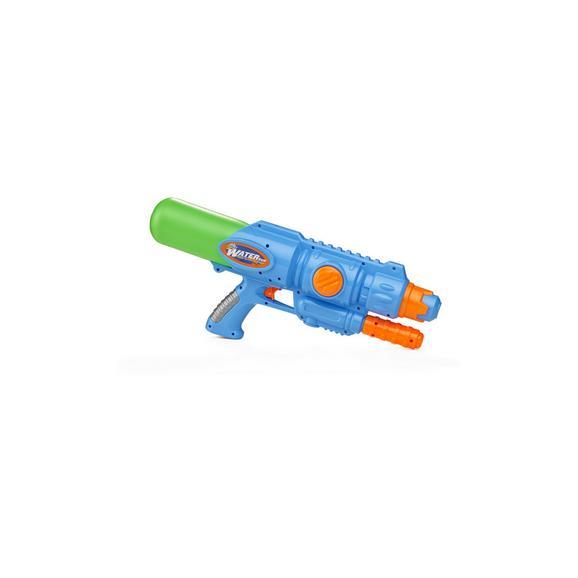 Wasserpistole Jan aus Kunststoff - Blau/Grün, Basics, Kunststoff (42,5/8,4/17,5cm)