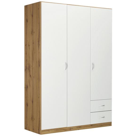 Ruhásszekrény Fehér-tölgy Szín Case - Tölgyfa, modern, Faalapú anyag (135/197/54cm) - Modern Living