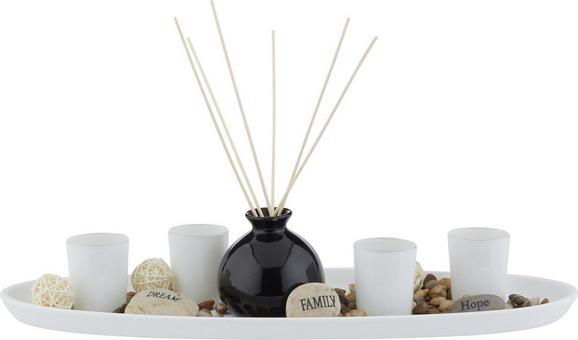 Teamécses Tál Evelin - natúr színek/fekete, Lifestyle, üveg/fa (51,5/11/18,2cm) - MÖMAX modern living
