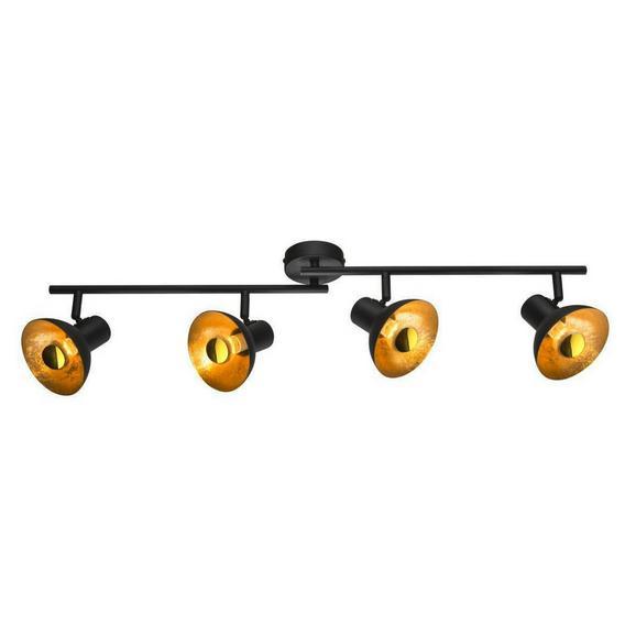 LED-Strahler Goldy, max. 4 Watt - Goldfarben/Schwarz, LIFESTYLE, Metall (89/17,6cm)