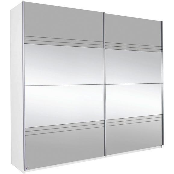 Schwebetürenschrank in Grauspiegel mit Spiegel - Weiß/Grau, KONVENTIONELL, Holzwerkstoff (226/210/62cm) - Modern Living