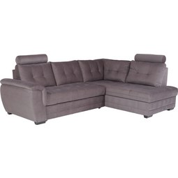 Sedežna Garnitura Falco - temno siva/temno rjava, Konvencionalno, kovina/umetna masa (251/183cm) - Mömax modern living