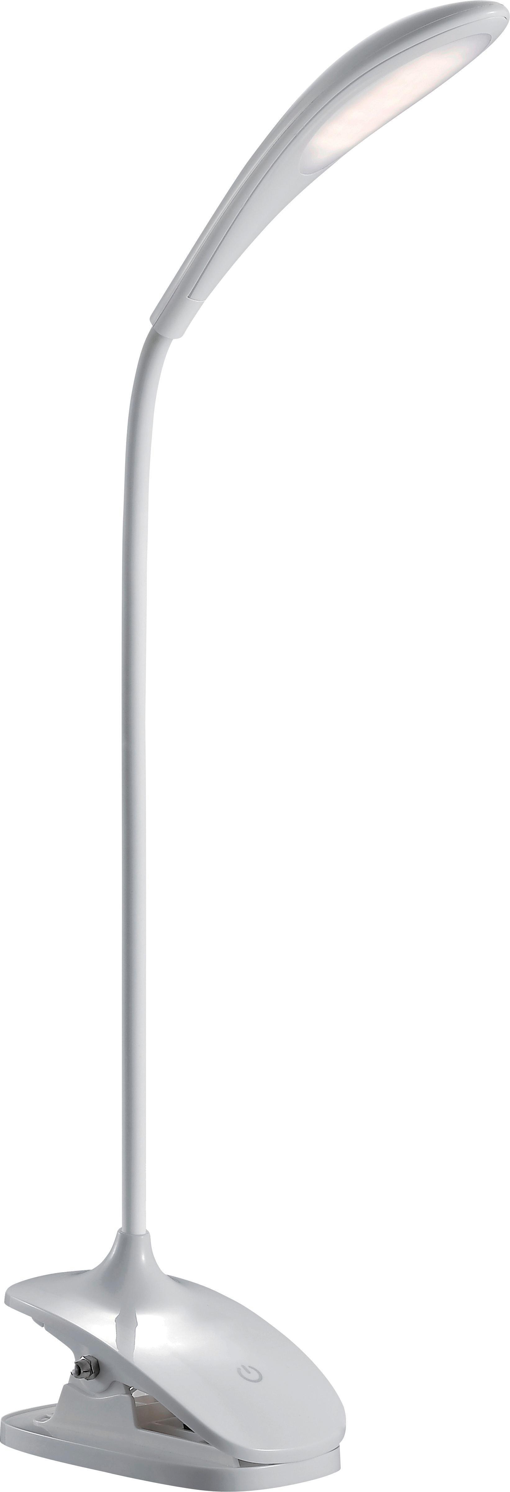 Schreibtischleuchte Bello, max. 3,2 Watt - Weiß, MODERN, Kunststoff (6,5/46,8/12cm)