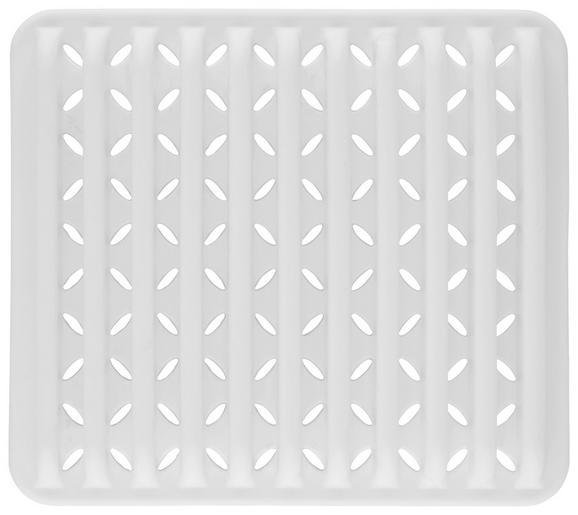 Geschirrabtropftasse Ute Weiß - Weiß, MODERN, Kunststoff (29,8/26,7/3,5cm) - PREMIUM LIVING