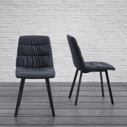 Stuhl Mario - Grau, MODERN, Textil/Metall (47/88/59,5cm) - Modern Living