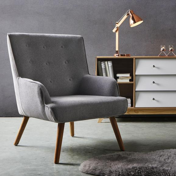 Sessel Sira - Hellgrau, MODERN, Holz/Textil (73/91/85cm) - Bessagi Home