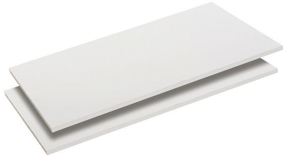 Polica Florenz - bela, Konvencionalno, leseni material (86,8/1,8/49,5cm) - Mömax modern living