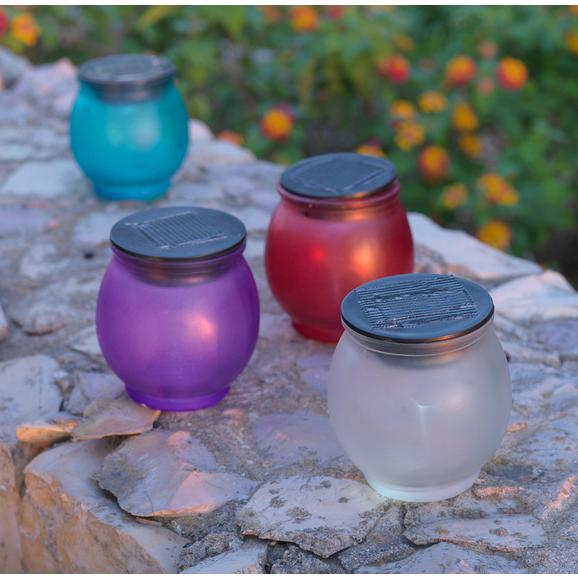 Solarleuchte Alli aus Glas - Blau/Lila, Glas/Kunststoff (8,5/9,5cm) - Mömax modern living