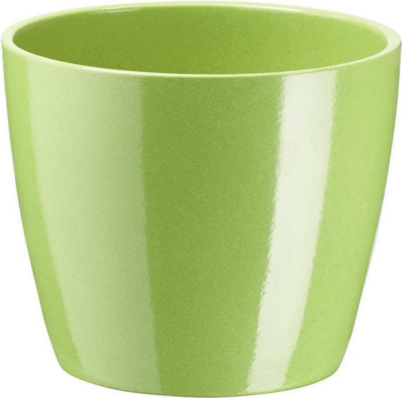 Übertopf Luisa in verschiedenen Farben - Braun/Weiß, MODERN, Keramik (12/10cm) - Based