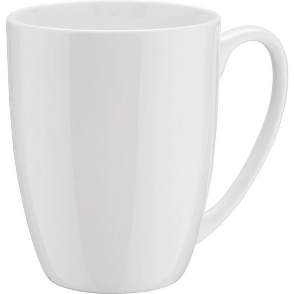 Kaffeebecher Bonnie aus Keramik ca. 380ml - Weiß, MODERN, Keramik (0,380l) - Mömax modern living