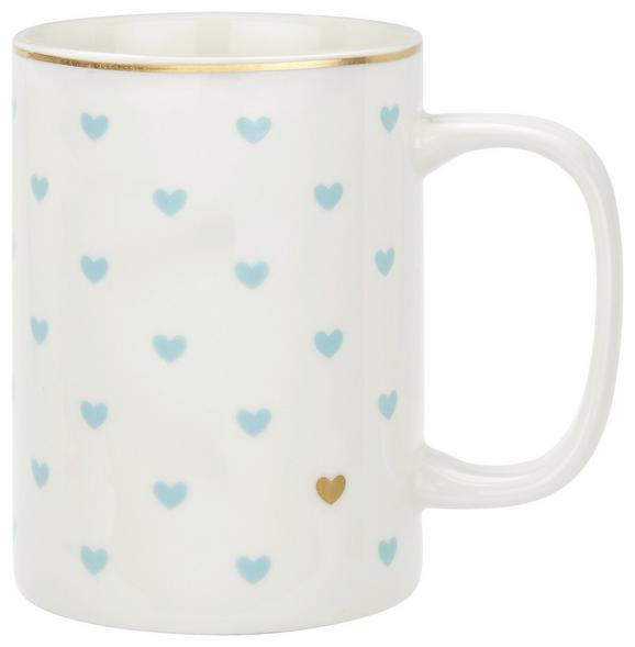 Kaffeebecher Lea in verschiedenen Farben - Blau/Goldfarben, ROMANTIK / LANDHAUS, Keramik (7,9/10,8cm) - Mömax modern living
