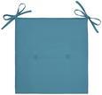 Stuhlkissen Smokey Blau, 40x40x2,5 cm - Blau, Textil (40/2,5/40cm) - Mömax modern living
