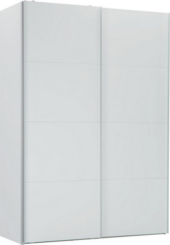 Schwebetürenschrank Weiß - Alufarben/Weiß, MODERN, Holzwerkstoff/Kunststoff (150/216/68cm) - PREMIUM LIVING