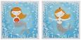 Keilrahmenbild Mona Blau/Grau/orange - Blau/Orange, Holz/Textil (28/28/1,5cm) - Mömax modern living