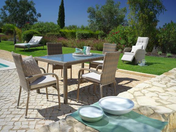 Gartensessel Monaco in Beige - Beige/Braun, Kunststoff/Textil (56/94/64cm) - MÖMAX modern living