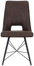 Stuhl in Braun - Schwarz/Braun, MODERN, Holz/Textil (47/91.5/cm) - Mömax modern living
