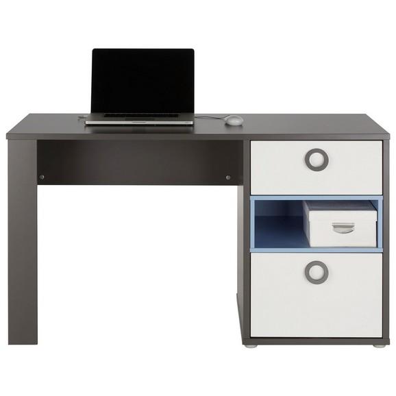 schreibtisch in wei grau blau online kaufen m max. Black Bedroom Furniture Sets. Home Design Ideas