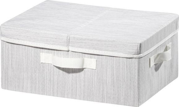 Aufbewahrungsbox Sonia in Hellgrau - Hellgrau, MODERN, Textil (38/28/16cm) - Mömax modern living