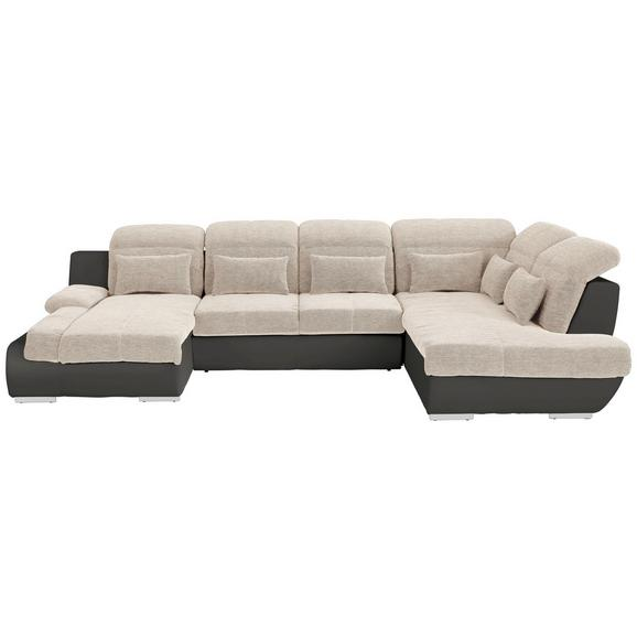 Sjedeća Garnitura Multi - tamno siva/bež, Modern, tekstil/metal (184/345/228cm) - Modern Living