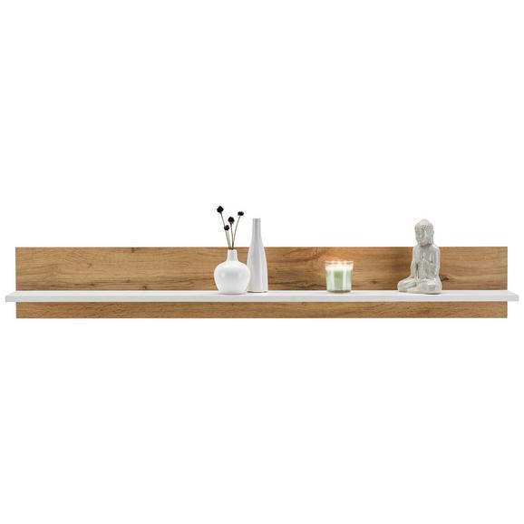 Falipolc Luca - Tölgyfa/Fehér, konvencionális, Faalapú anyag (138/22/22cm) - Modern Living