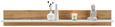 Wandboard in Weiß/Eichefarben - Eichefarben/Weiß, KONVENTIONELL, Holzwerkstoff (138/22/22cm) - Modern Living