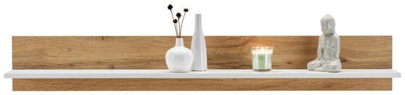 Wandboard Weiß/Eichefarben - Eichefarben/Weiß, KONVENTIONELL, Holzwerkstoff (138/22/22cm) - Modern Living