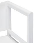 Kindersitzbank Jason - Weiß, MODERN, Holz (80/90/43cm) - Mömax modern living