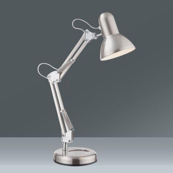 Asztali Lámpa Fém Váz - Króm, Lifestyle, Fém (15,5/58cm)