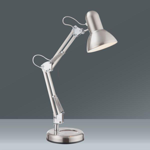 Asztali Lámpa Fém Váz - krómszínű, Lifestyle, fém (15,5/58cm)