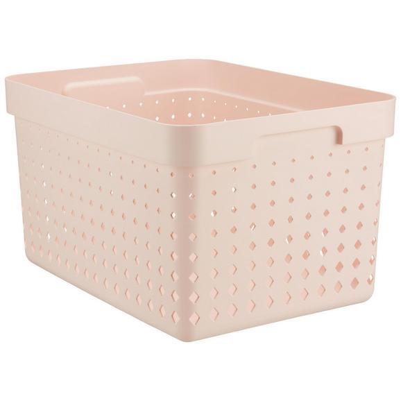 Korb Seoul aus Kunststoff in Rosa - Rosa, KONVENTIONELL, Kunststoff (35,7/26,8/20,9cm)