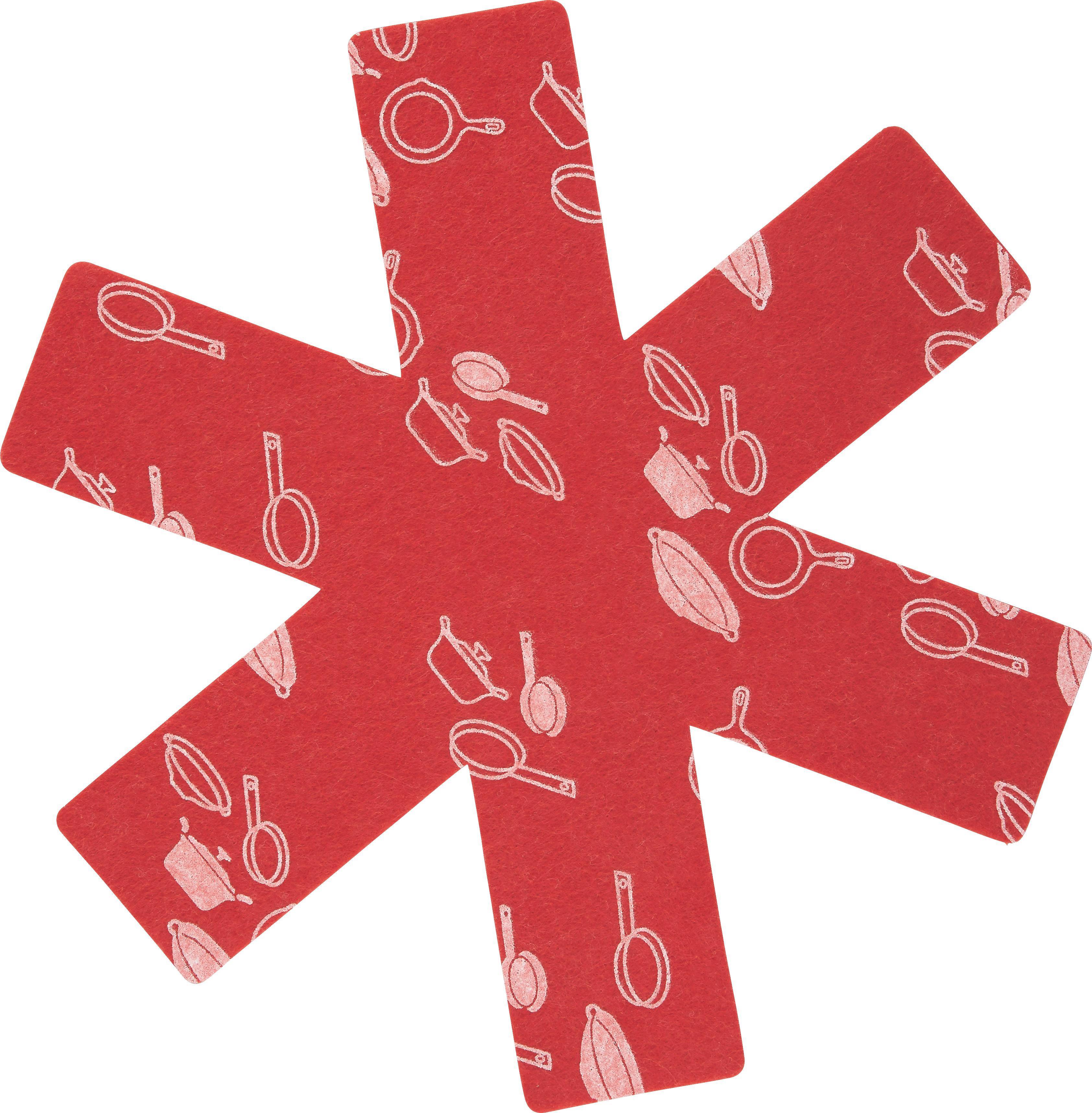 Zaščita Za Ponev Freddy - rdeča/črna, tekstil (38cm) - MÖMAX modern living
