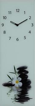Wanduhr Silent Water Stones - Schwarz/Weiß, MODERN, Glas/Metall (20/60/3,5cm) - Mömax modern living