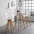 Barhocker in Grau - Schwarz/Grau, MODERN, Holz/Textil (44,5/109,5/51.5cm) - Mömax modern living