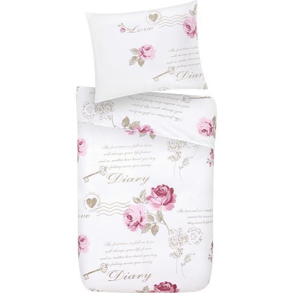 Lenjerie Pentru Pat Diary Rose - alb, Romantik / Landhaus, textil - Mömax modern living