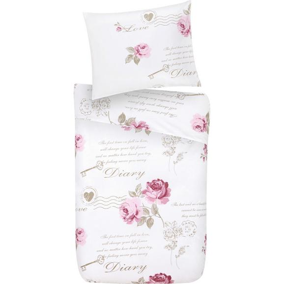 Posteljnina Diary Rose - bela, Romantika, tekstil - Mömax modern living