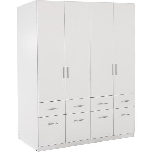 Omara Za Oblačila Celle - aluminij/bela, Moderno, umetna masa/les (181/197/54cm) - Premium Living