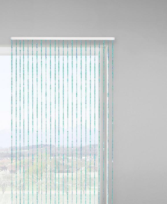 Fadenstore Diamond, ca. 90x200cm - Türkis, LIFESTYLE, Kunststoff (90/245cm) - MÖMAX modern living