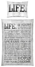 Posteljina Life Is Yours -ext- - bijela, MODERN, tekstil (140/200cm) - Mömax modern living