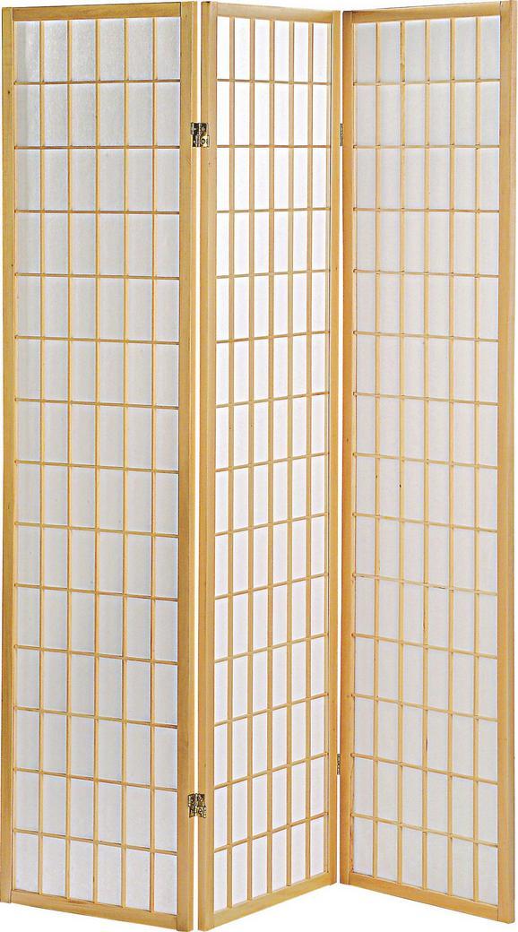 Paraván Naomi - natúr színek, modern, fa/papír (131/179/2cm)