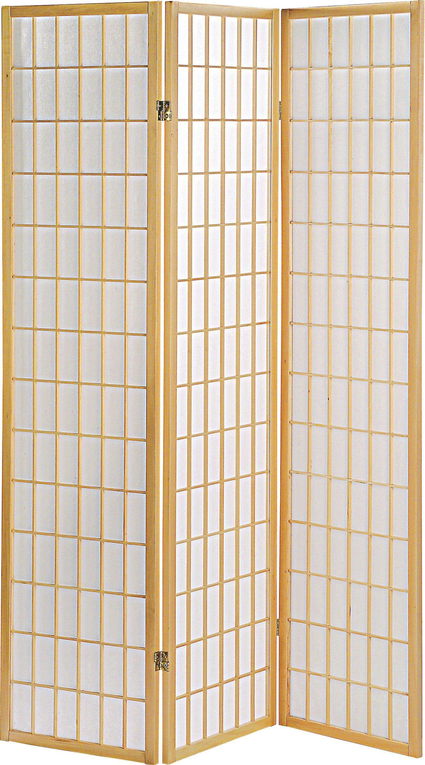 Paravent in Naturfarben - Naturfarben, Holz/Papier (131/179/2cm) - MÖMAX modern living