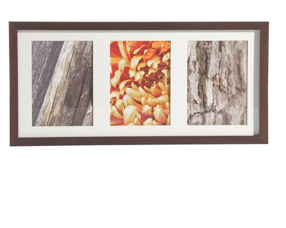 Bilderrahmen Gitta, ca. 23x50cm aus Holz - Wengefarben, MODERN, Glas/Holz (23/50cm)