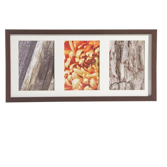 Bilderrahmen Gitta ca. 23x50cm aus Holz - Wengefarben, MODERN, Glas/Holzwerkstoff (23/50cm)