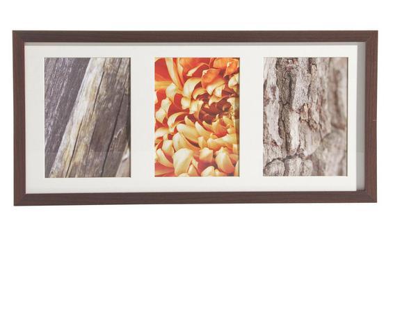 Képkeret Fa Kivitel - wenge színű, modern, üveg/fa (23/50cm)