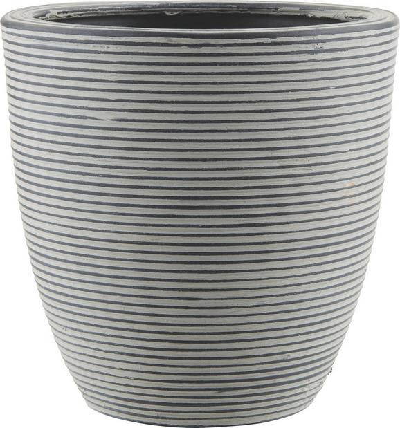 Cvetlični Lonček Marlene - L - črna, Trendi, umetna masa (26/26cm) - Mömax modern living