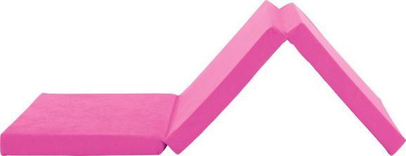 Faltmatratze in Pink, ca. 65x185cm - Pink, MODERN, Textil (185/65/8cm)