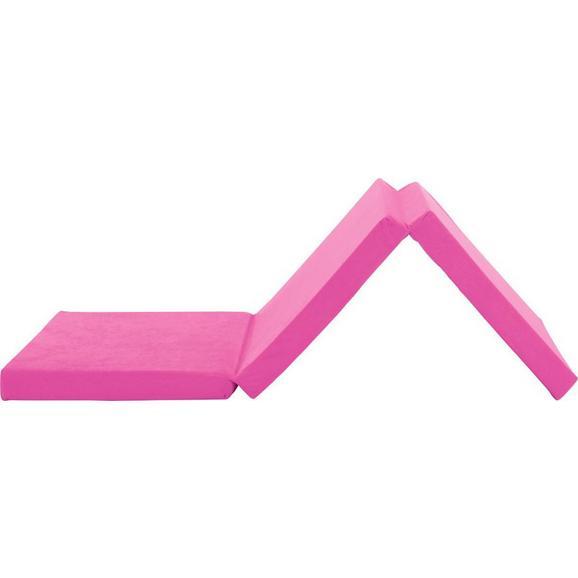 Összecsukható Matrac Pink Anna - Pink, modern, Textil (65/186cm)