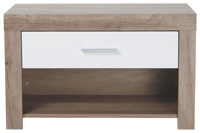 Klop S Predalom Malta - bela/hrast, Moderno (80/49/36cm) - MÖMAX modern living