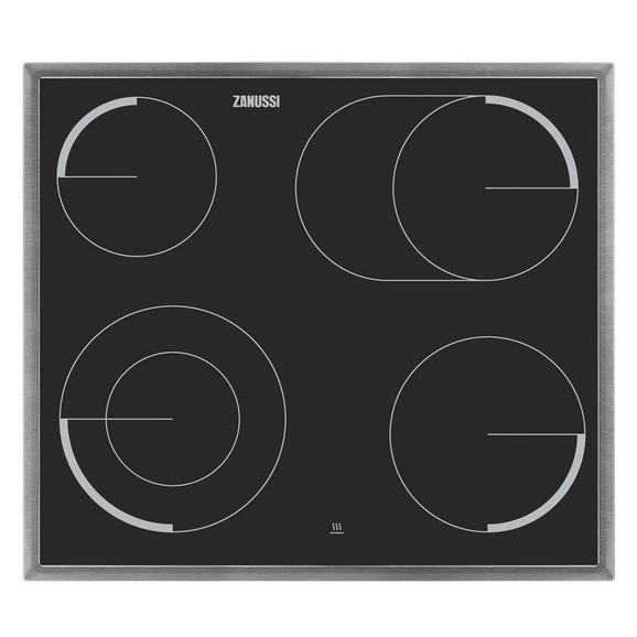 Glaskeramikkochfeld ZEV6046XBA - Edelstahlfarben/Schwarz, KONVENTIONELL, Glas/Metall (57,6/3,8/50,6cm) - Zanussi