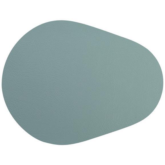 Tischset Jette aus Leder in Blau - Blau, Leder (45/35cm) - Premium Living